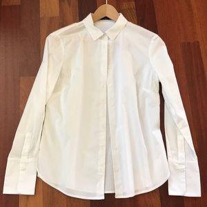 Mango white button-up shirt